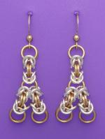 Trendy Triangles Chain Maille - Mixed Metals