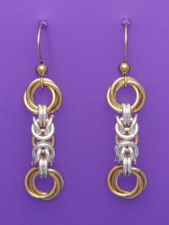 Golden Double Flower Chain Maille - Mixed Metal