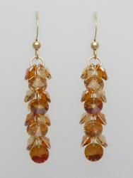 Gold-Filled Copper and Brown Dazzling Dangles