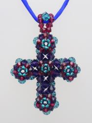 Swarovski Crystal Cross Multicolor 3-Tone